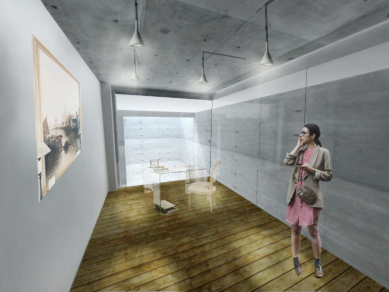 boceto interior apartamento