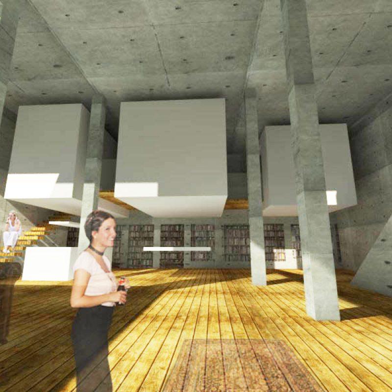 boceto apartamento subterraneo